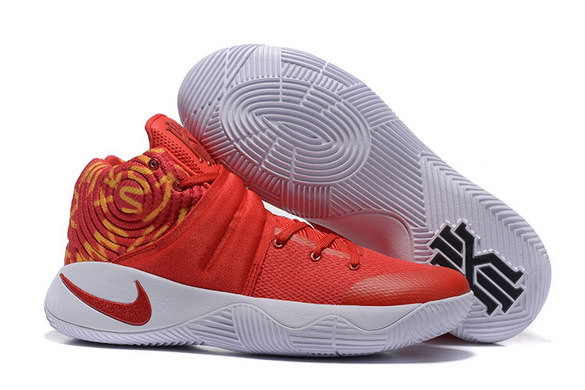Kyrie 2 Basketball shoes Fire Red/White Orange