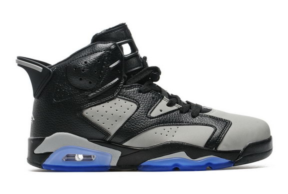 Air Jordan 6 Retro Shoes Black/Grey