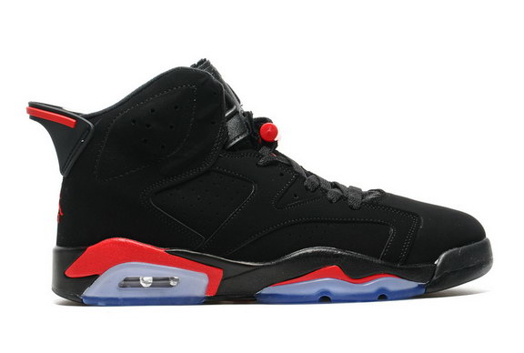Air Jordan 6 Retro Shoes Black/Fire Red