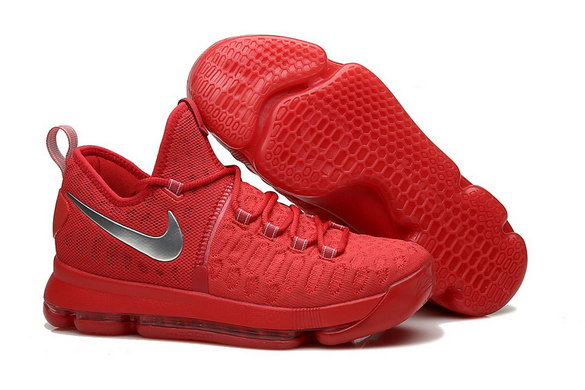KD 9 Basketball Shoes Hot Red/Silver Grey