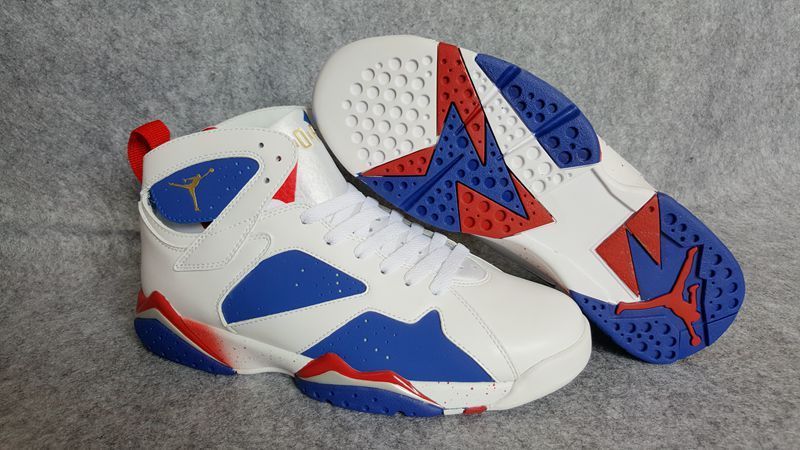 "Air Jordan 7 ""Tinker Alternate"" Shoes White/Blue Red"