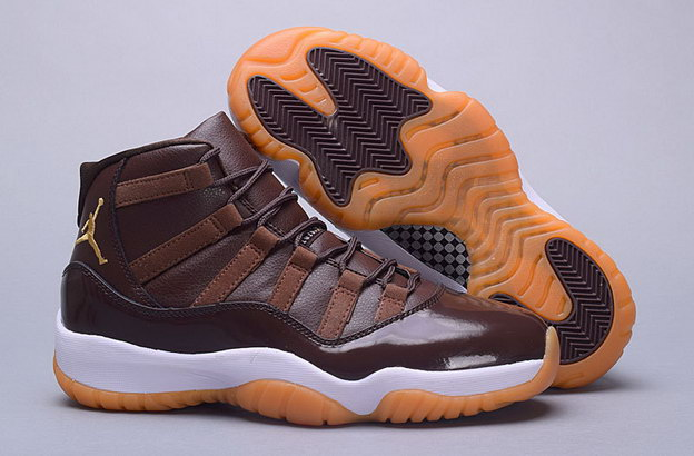 "Air Jordan 11 ""Chocolate"" Shoes Brown Gum/White"