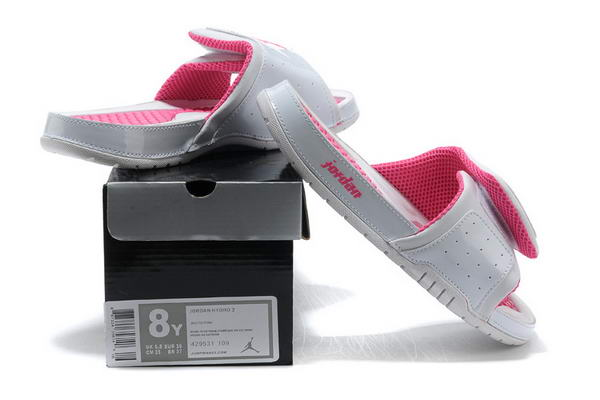 Womens Jordan Hydro Shoes White/Pink