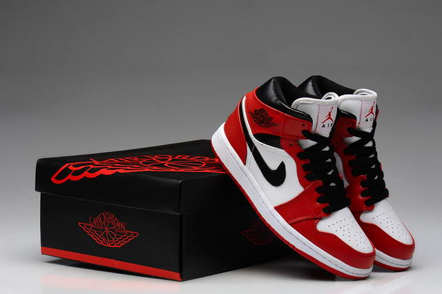 Air Jordan 1 For Women Shoes White/Black/Red