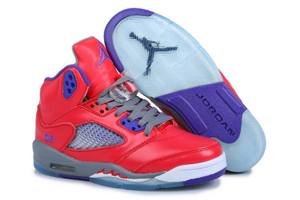 Air Jordan 5 Retro Women Shoes Pearl light pink/blue white