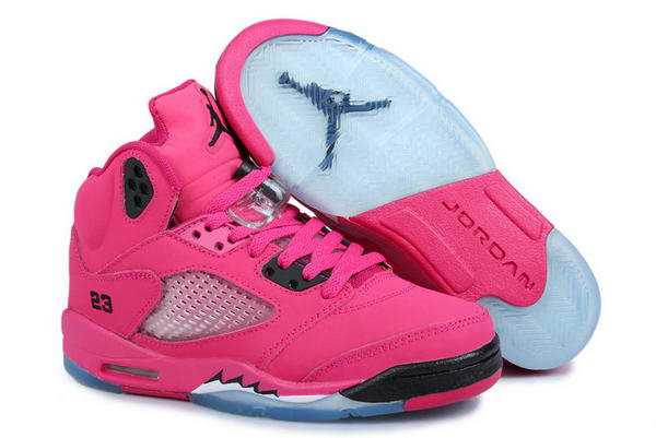 Air Jordan 5 Retro Women Shoes sexy pink/black