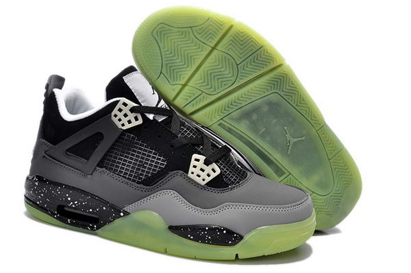 Air Jordan 4 Retro Oreo Women Shoes black/gray