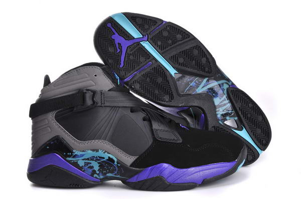 Womens Air Jordan 8 (VIII) Retro Shoes black/blue