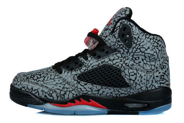 Womens Air Jordan 3LAB5 Fire Red Shoes black/gray red
