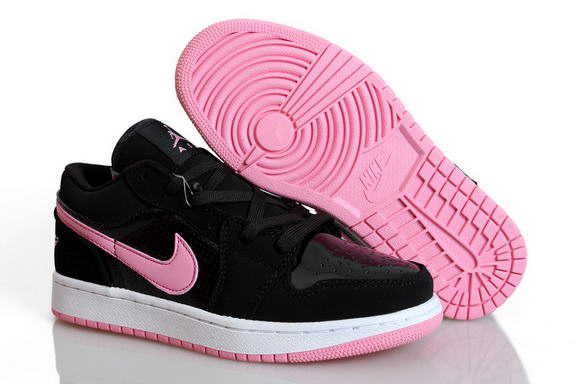 Womens Air Jordan 1 Retro Shoes Black/pink