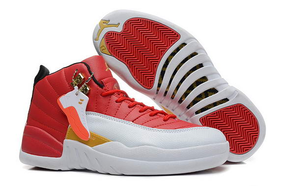 Air Jordan 12 Retro GS Womens Shoes Red/black