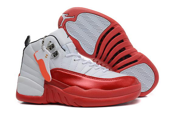 Air Jordan 12 Retro GS Womens Shoes White/red