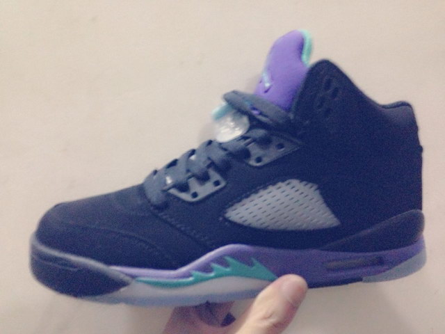 Air Jordan 5 For Womens Shoes black/grapes
