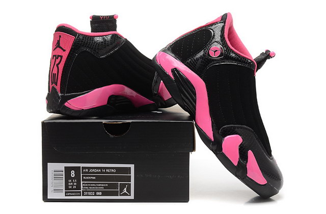 WMNS Air Jordan 14 Shoes Black/pink