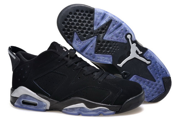 Air Jordan 6 Low GS Shoes Black/blue