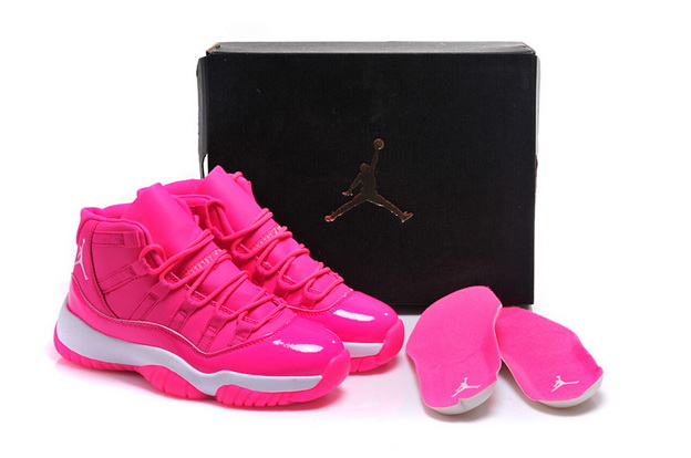 Air Jordan 11 GS Shoes Pink/white