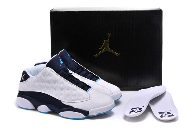 Womens Jordan 13 Low Shoes Black/Blue White