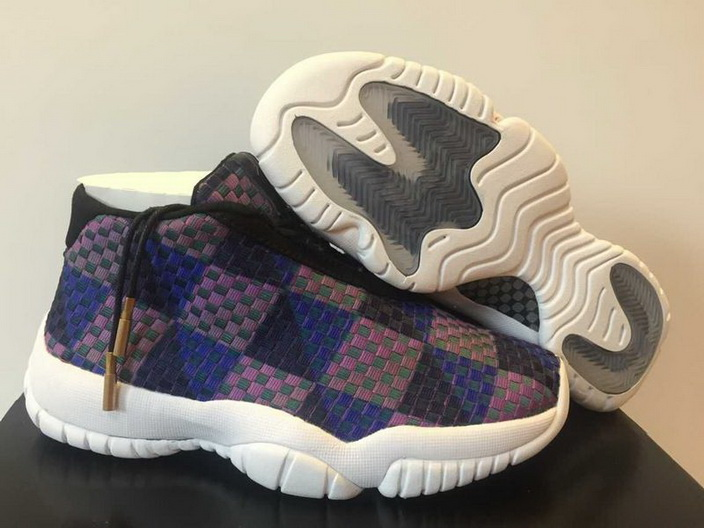 Womens Jordan future Shoes Blue/brown white