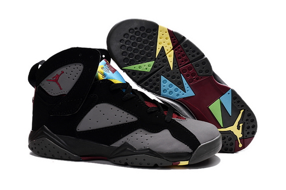 Air Jordan 7 Womens Shoes Gray/black wine yellow