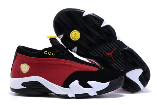Women's Air Jordan 14 Shoes Scarlet/black white