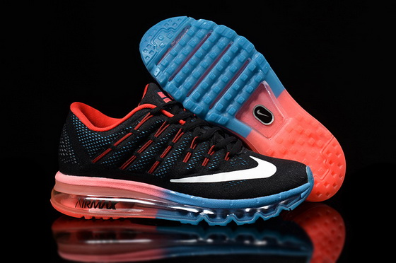Women's Air Max 2016 Shoes Black/red blue white