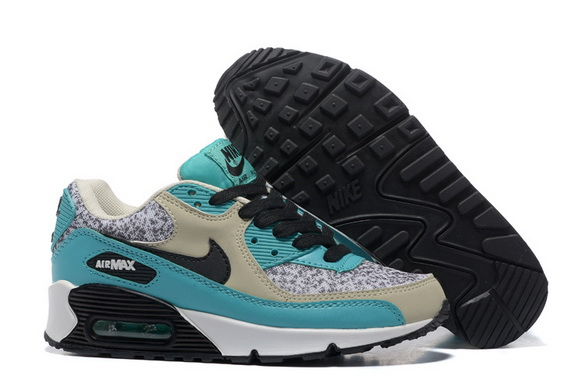 Women's Air Max 90 Shoes Gray/blue white
