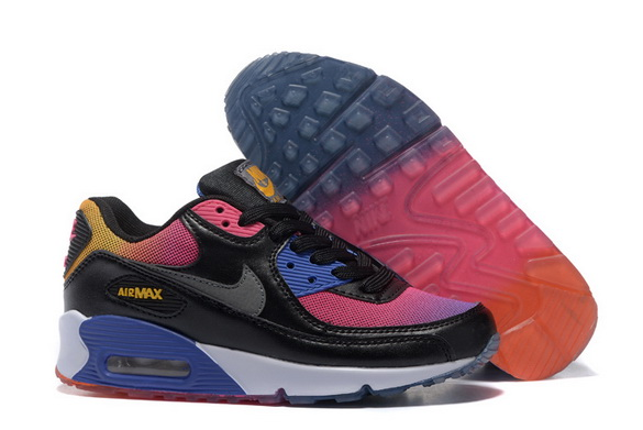 Women's Air Max 90 Shoes Black/red yellow blue
