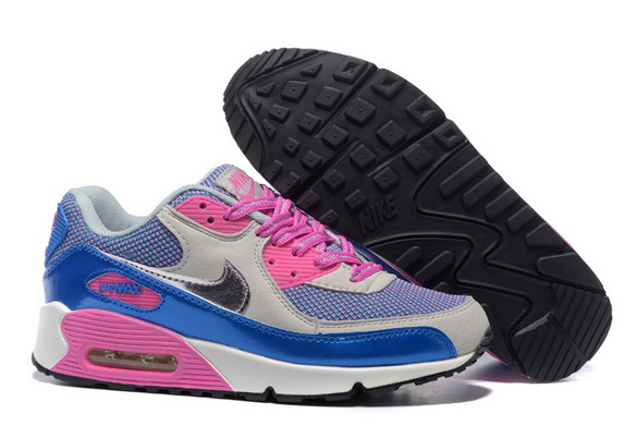 Women's Air Max 90 Shoes pink/blue gray