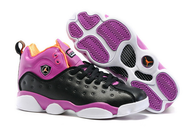 "Air Jordan ""TEAM 2"" GS Shoes Purple/Black White"