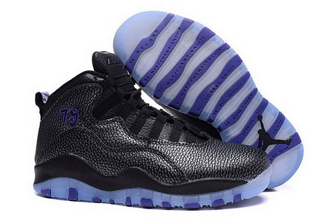 Womens Jordan 10 Shoes Black/Fierce Purple