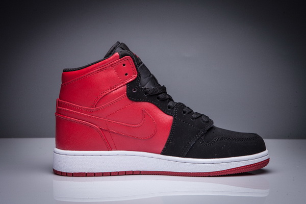 Women Girl Air Jordan 1 High Shoes Chicago Red/Black