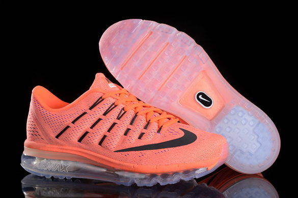 Women's Air Max 2016 Girl Shoes Orange/black