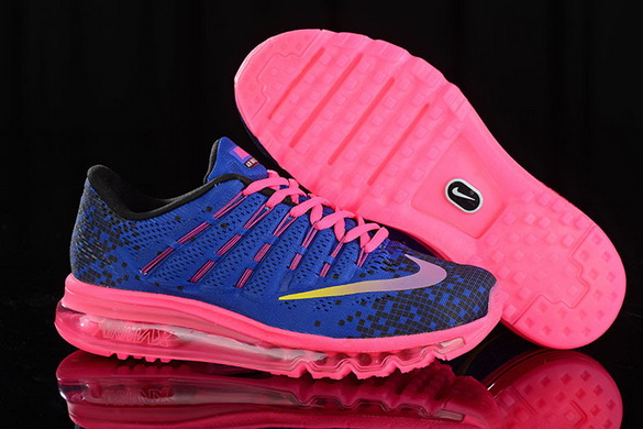 Women's Air Max 2016 Girl Shoes Blue/pink black