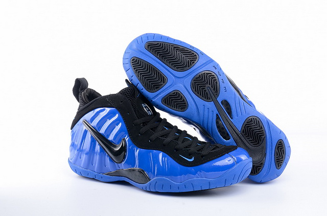 Womens Foamposite Pro Shoes Real Blue/Black