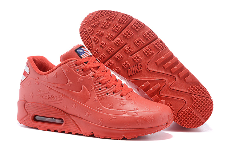 "Women Air Max 90 Hyp ""Independence Day"" Shoes Red"