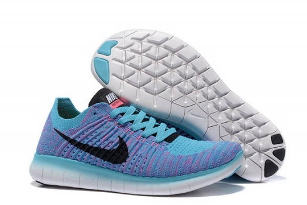 Women's Free Flyknit 5 Shoes Blue/black