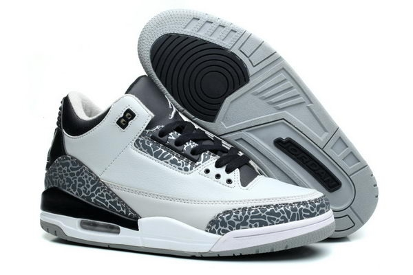 Womens Jordan 3 GS Shoes Wolf grey/black