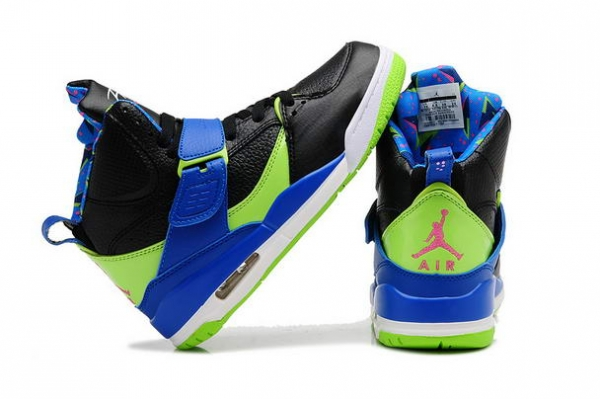 Air Jordan 4.5 Retro Womens Girls Shoes black/blue green