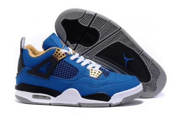 "Air Jordan 4 ""Canvas"" Shoes Blue/black tan"