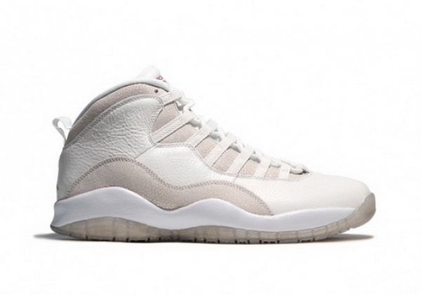 "Air Jordan 10 ""OVO"" Shoes White/gray"