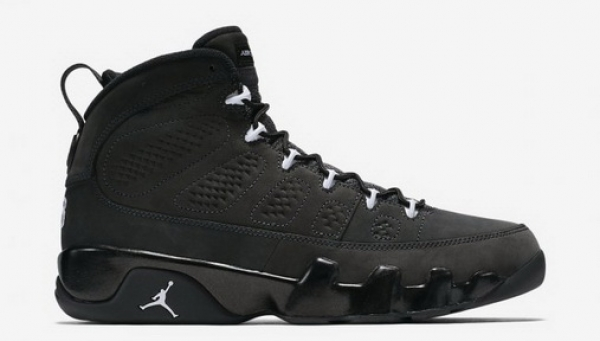 Air Jordan 9 Anthracite Shoes Black/white