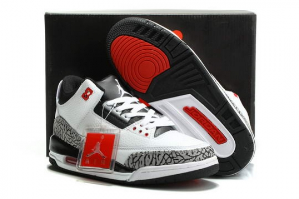 Air Jordan 3 Infrared 23 Shoes White/Black Cement Grey Infrared 23